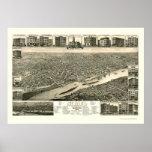 St. Paul, MN Panoramic Map - 1883 Poster