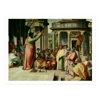 St. Paul Preaching at Athens (cartoon for the Sist Postcard