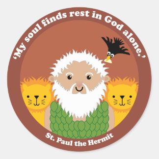 St. Paul the Hermit Round Sticker