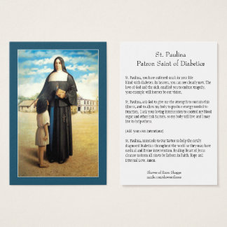 St. Paulina Saint of Diabetics/Diabetes Holy Card