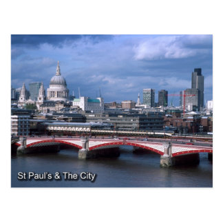 St Pauls and City of London postcard
