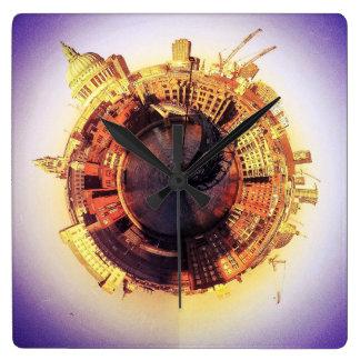 St Pauls and the Milenium Bridge Clocks