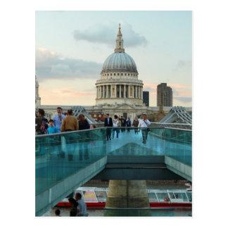 St. Paul's Cathedral and Millennium Bridge, London Postcard