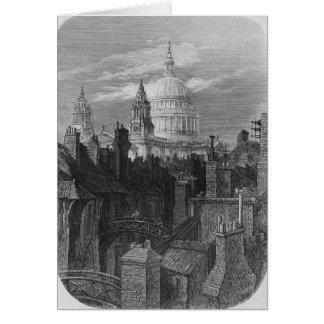 St. Paul's Cathedral and the slums Card