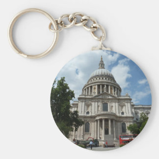 St Paul's Cathedral London Basic Round Button Keychain