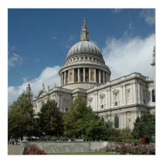 St-Pauls-Cathedral-London Poster