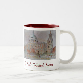 St Paul's Cathedral. London Two-Tone Coffee Mug