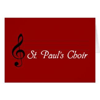 St. Paul's Choir Card