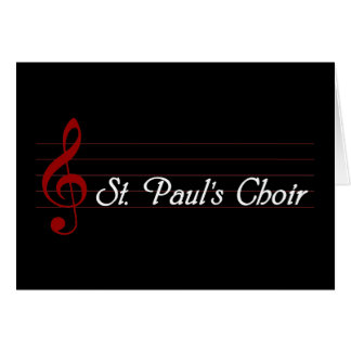 St. Paul's Choir Card