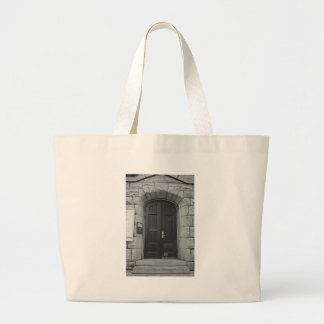 St Paul's Episcopal Church in Sacramento I in bw Large Tote Bag