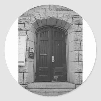 St Paul's Episcopal Church in Sacramento I in bw Round Sticker