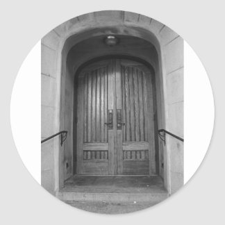 St Paul's Episcopal Church in Sacramento II in bw Round Sticker