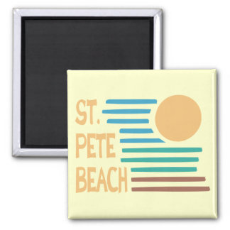St. Pete Beach Florida geometric sunset Magnet