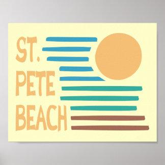St. Pete Beach Florida geometric sunset Poster