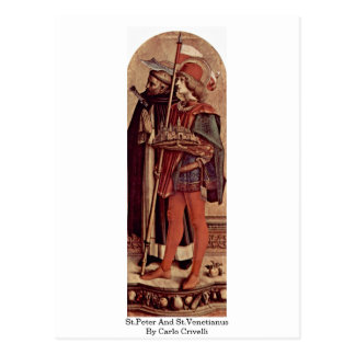 St.Peter And St.Venetianus By Carlo Crivelli Postcard