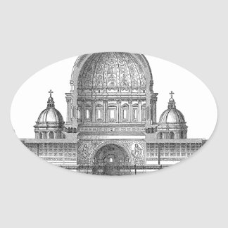 St. Peter Basilica - Rome, Italy Oval Sticker