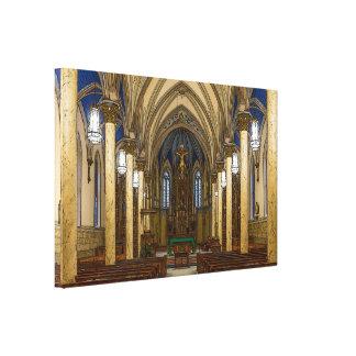 St Peter Catholic Church Painterly Canvas Print