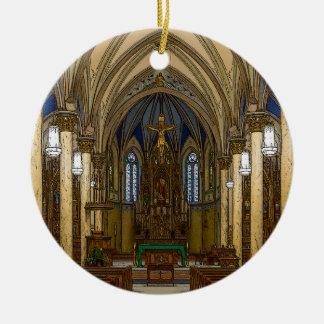 St Peter Catholic Church Painterly Ceramic Ornament