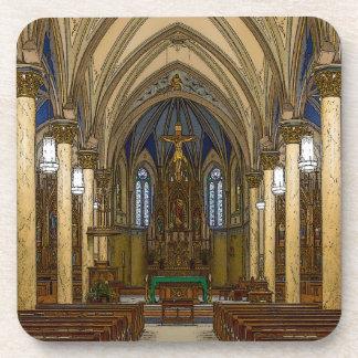 St Peter Catholic Church Painterly Coaster