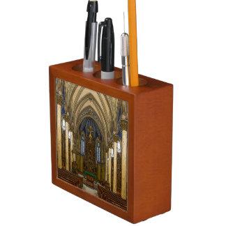 St Peter Catholic Church Painterly Desk Organizer
