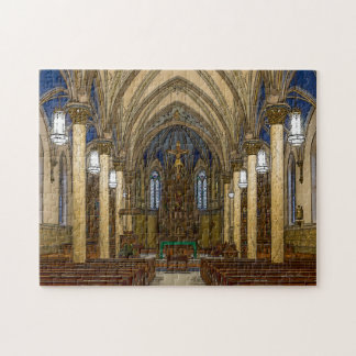 St Peter Catholic Church Painterly Jigsaw Puzzle