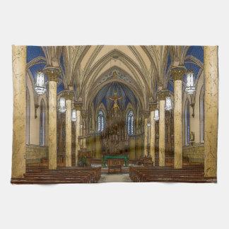 St Peter Catholic Church Painterly Kitchen Towel