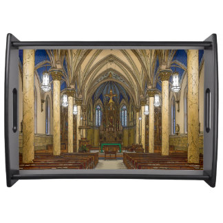 St Peter Catholic Church Painterly Serving Tray