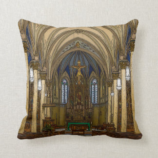 St Peter Catholic Church Painterly Throw Pillow