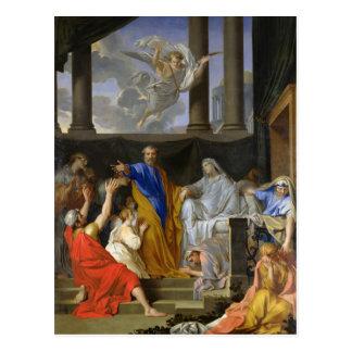 St. Peter Resurrecting the Widow Tabitha, 1652 Postcard