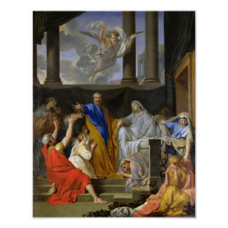 St. Peter Resurrecting the Widow Tabitha, 1652 Poster