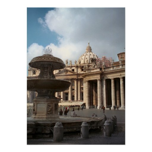 "St Peter""s Basilica, Vatican, Rome Poster"