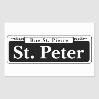 St. Peter St., New Orleans Street Sign Sticker