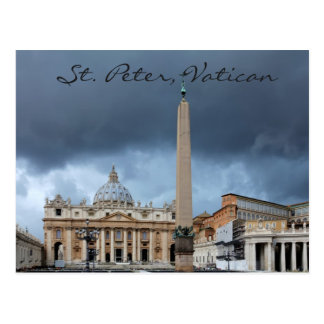 St. Peter's Basicila, Holy city of Vatican Postcard