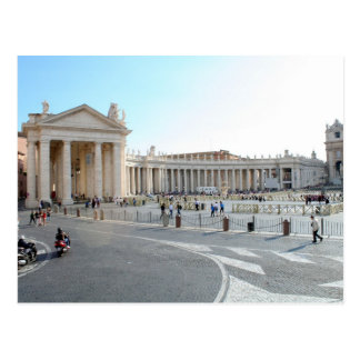 St Peter's Basilica and Columns in Vatican City. Postcard