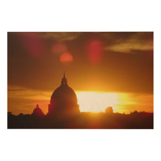 St Peter's Basilica in Rome at Sunset Wood Print