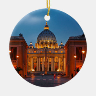 St. Peter's Basilica in Rome - Italy Ceramic Ornament
