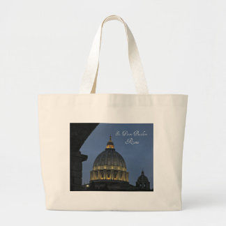 St. Peter's Basilica, Rome, Italy Large Tote Bag