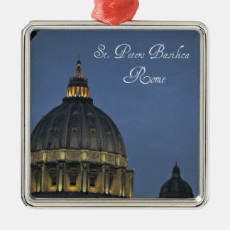St. Peter's Basilica, Rome, Italy Metal Ornament