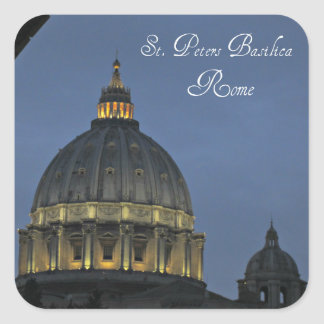 St. Peter's Basilica, Rome, Italy Square Sticker