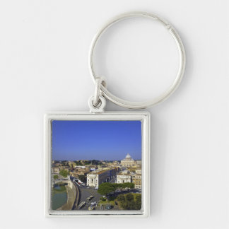 St. Peter's Basilica, State of the Vatican City Silver-Colored Square Keychain