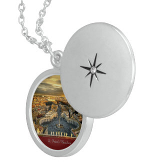 St. Peter's Basilica, Sterling Silver Round Locket