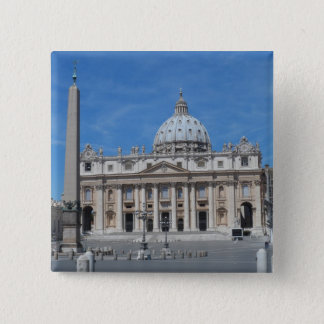 St Peter's Basilica- Vatican City 2 Inch Square Button