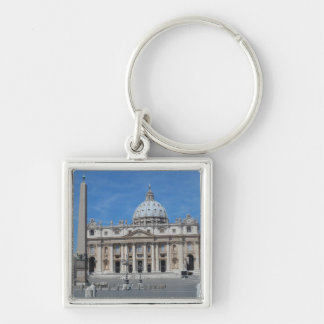 St Peter's Basilica- Vatican City Silver-Colored Square Keychain