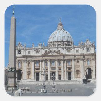 St Peter's Basilica- Vatican City Square Sticker