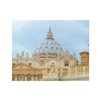 St. Peters Basilica Vatican in Rome Italy Canvas Print