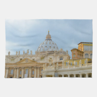 St. Peters Basilica Vatican in Rome Italy Kitchen Towel
