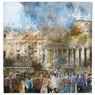 St. Peters Basilica Vatican in Rome Italy Napkin