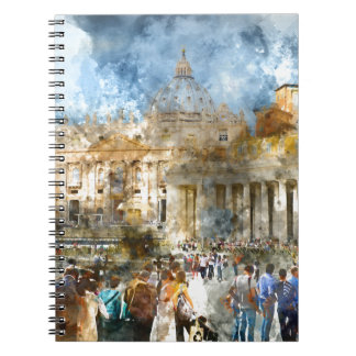 St. Peters Basilica Vatican in Rome Italy Spiral Notebook