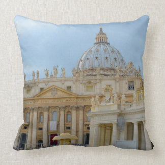 St. Peters Basilica Vatican in Rome Italy Throw Pillow