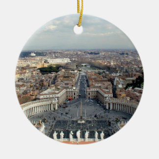 St. Peter's Basilica Views Ceramic Ornament
